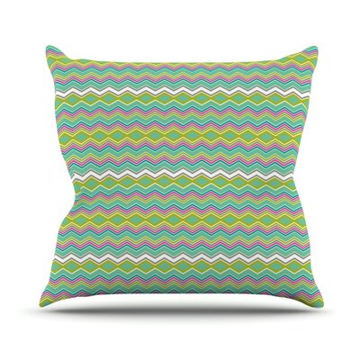 Chevron Love Outdoor Throw Pillow
