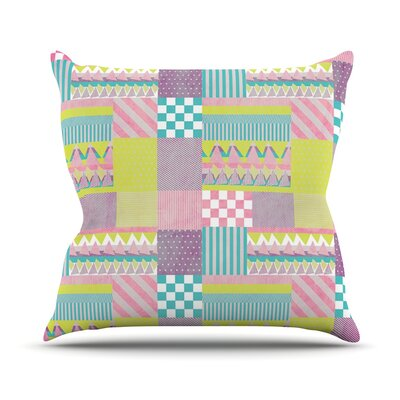 Patchwork Outdoor Throw Pillow