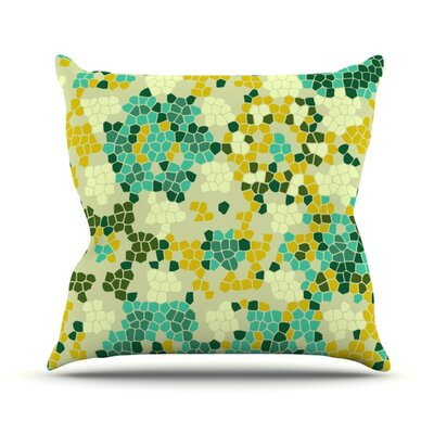 Flower Garden Mosaic Outdoor Throw Pillow