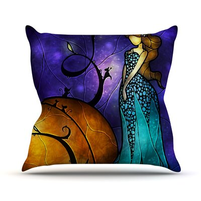 Cinderella Outdoor Throw Pillow