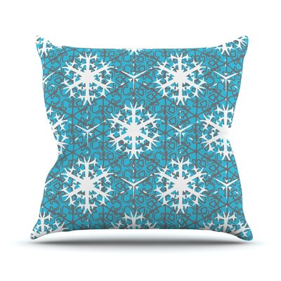 Precious Flakes Outdoor Throw Pillow
