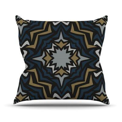 Winter Fractals Outdoor Throw Pillow