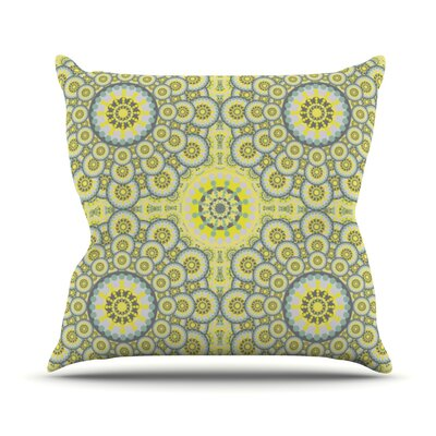 Multifaceted Flowers Outdoor Throw Pillow
