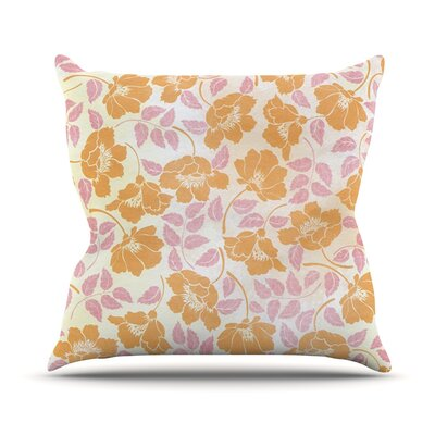 Sun Kissed Petals Outdoor Throw Pillow