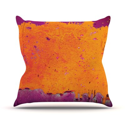 Orange Purple Outdoor Throw Pillow
