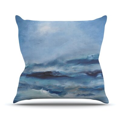 Rough Sea Outdoor Throw Pillow