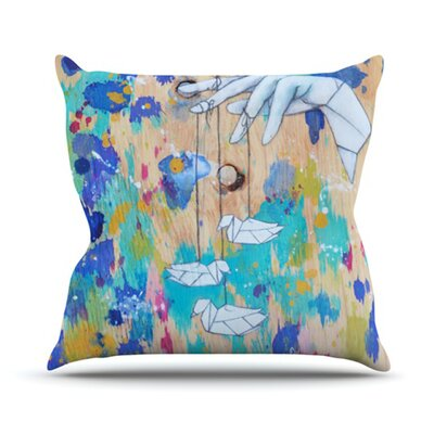 Origami Strings Outdoor Throw Pillow