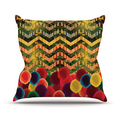 Chevron and Dots Outdoor Throw Pillow