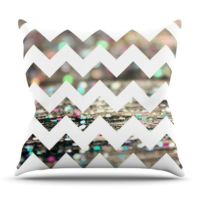 After Party Chevron by Beth Engel Outdoor Throw Pillow