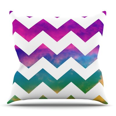 Lucky Chevron by Beth Engel Outdoor Throw Pillow