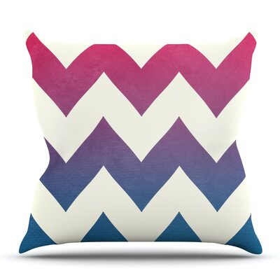 Fade to Blue by Catherine McDonald Outdoor Throw Pillow