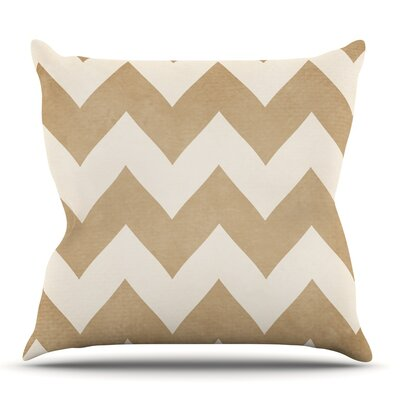Biscotti and Cream by Catherine McDonald Outdoor Throw Pillow