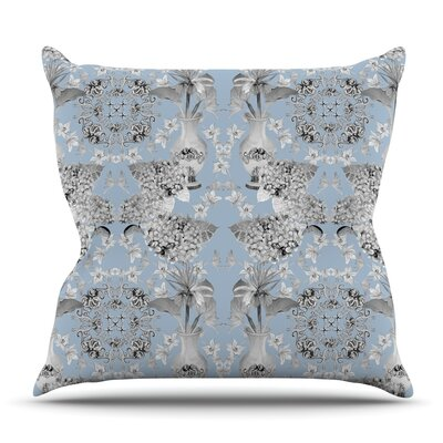 Versailles Blue by DLKG Design Outdoor Throw Pillow
