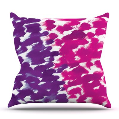Fleeting Purple by Emine Ortega Outdoor Throw Pillow