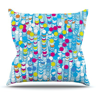 Color Hiving by Frederic Levy-Hadida Outdoor Throw Pillow