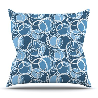 Simple Circles in Circle by Julia Grifol Outdoor Throw Pillow