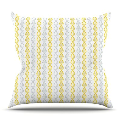 Lemon Pod by Julie Hamilton Outdoor Throw Pillow