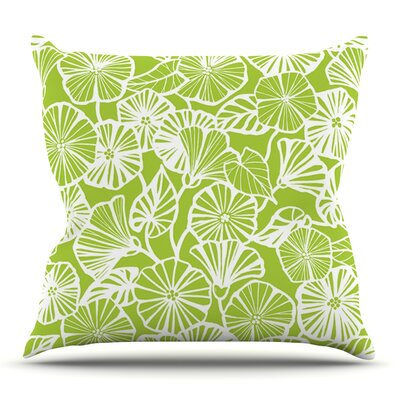 Vine Shadow Lime by Jacqueline Milton Outdoor Throw Pillow