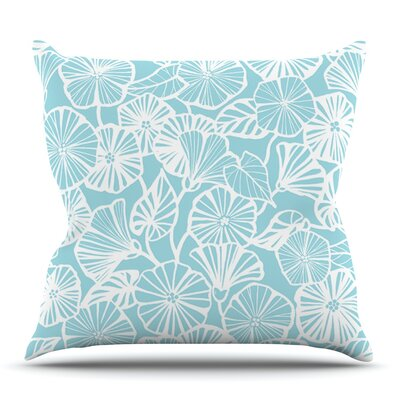 Vine Shadow Aqua by Jacqueline Milton Outdoor Throw Pillow