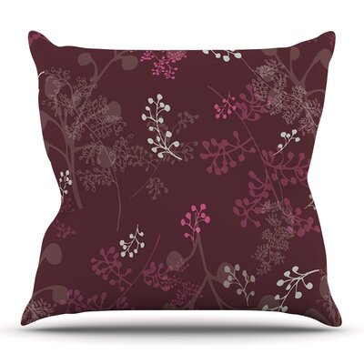 Ferns Vines Bordeaux by Laurie Baars Outdoor Throw Pillow