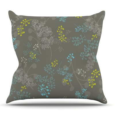 Ferns Vines Green by Laurie Baars Outdoor Throw Pillow