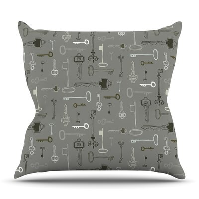 Keys Gray by Laurie Baars Outdoor Throw Pillow