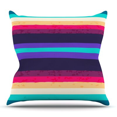 Surf Stripes by Nika Martinez Outdoor Throw Pillow