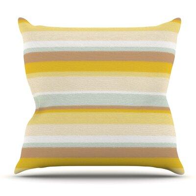 Desert Stripes by Nika Martinez Outdoor Throw Pillow