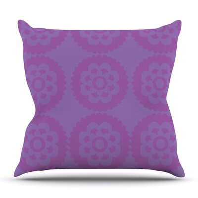 Moroccan Lilac by Nicole Ketchum Outdoor Throw Pillow