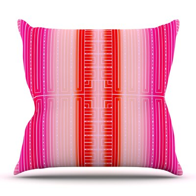 Deco City Blush by Nina May Outdoor Throw Pillow