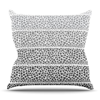 Riverside Pebbles by Pom Graphic Design Outdoor Throw Pillow