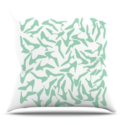 Shoe Mint by Project M Outdoor Throw Pillow
