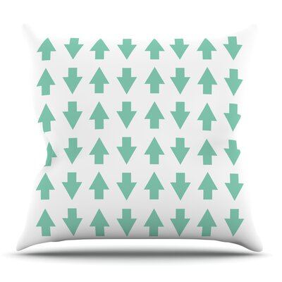 Arrows Up and Down Mint by Project M Outdoor Throw Pillow