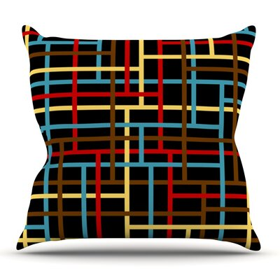 Veza by Trebam Outdoor Throw Pillow