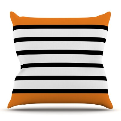 Sest Redaka Orange by Trebam Outdoor Throw Pillow