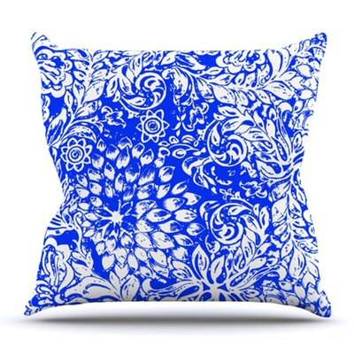 Bloom Blue for You by Vikki Salmela Outdoor Throw Pillow
