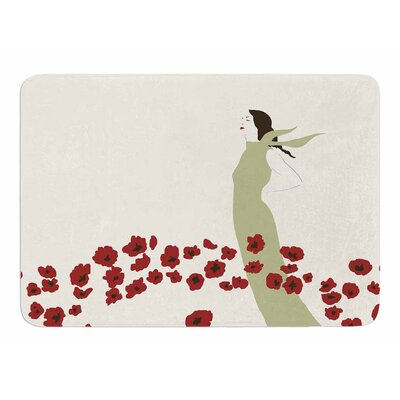 Poppy Field by Mayacoa Studio Memory Foam Bath Mat