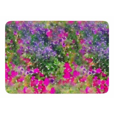 Water Florals by Carolyn Greifeld Memory Foam Bath Mat