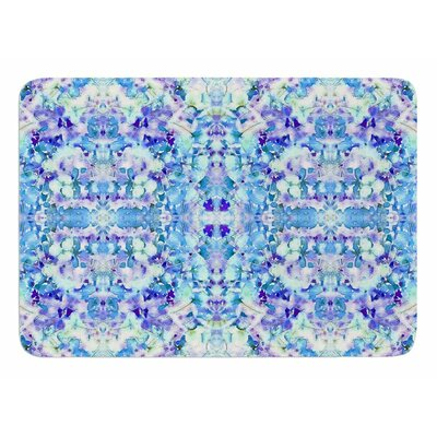 Floral Fantasy Reflection by Carolyn Greifeld Memory Foam Bath Mat