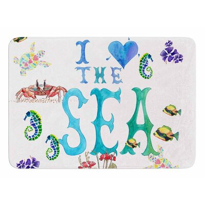 I Love the Sea by Catherine Holcombe Memory Foam Bath Mat