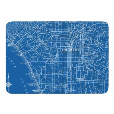 Los Angeles Streets by Catherine Holcombe Memory Foam Bath Mat