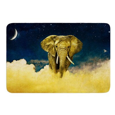 Celestial Elephant by Nick Atkinson Memory Foam Bath Mat