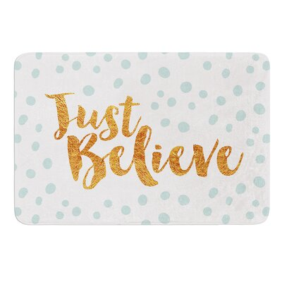 Just Believe by Nick Atkinson Memory Foam Bath Mat