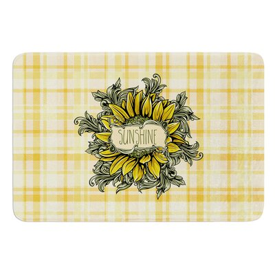 Sunflower Sunshine by Nick Atkinson Memory Foam Bath Mat