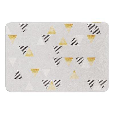 Triangle Love by Nick Atkinson Memory Foam Bath Mat