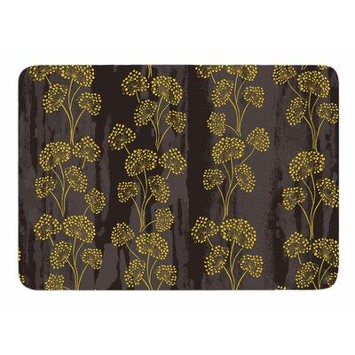 Textured Floral Elegance by Neelam Kaur Memory Foam Bath Mat