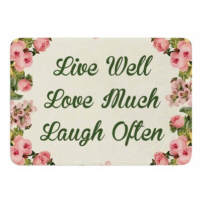 Live Love Laugh by NL Designs Memory Foam Bath Mat