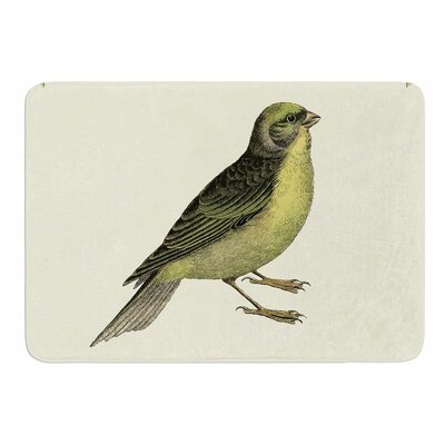 Vintage Bird 2 by NL Designs Memory Foam Bath Mat