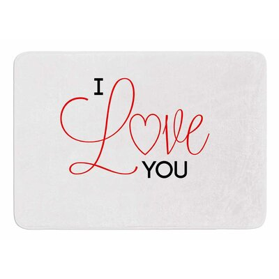 I Love You by NL Designs Memory Foam Bath Mat