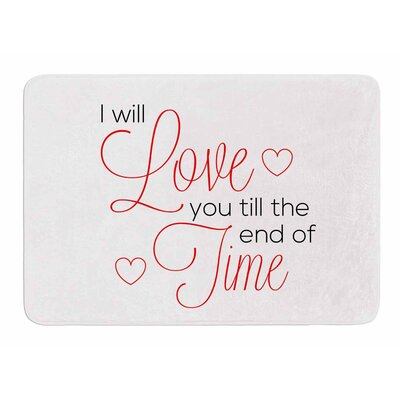 I Will Love You by NL Designs Memory Foam Bath Mat